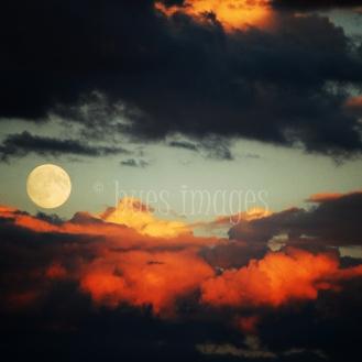 Supermoon Sunset